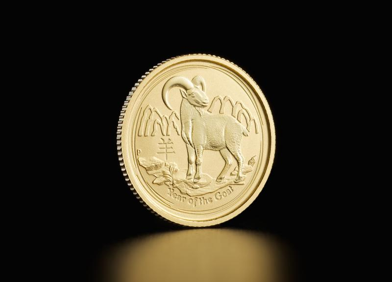 2015 1/10 oz Australian Gold Lunar Year of the Goat