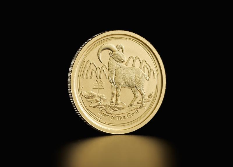 2015 1/4 oz Australske Lunar Guldmønter
