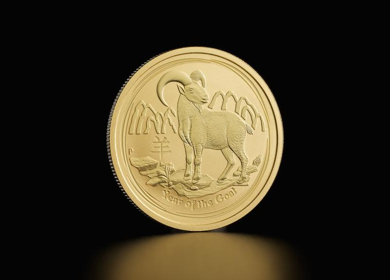 2015 1/2 oz Australian Gold Lunar Year of the Goat