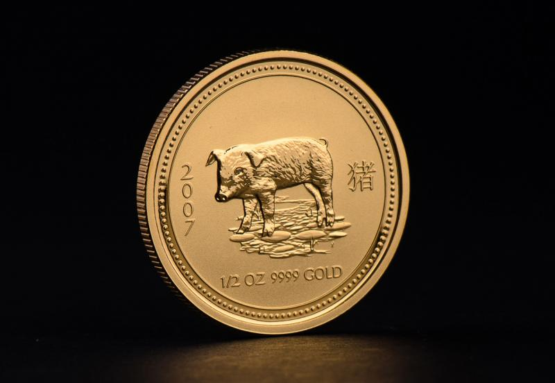 2007 1/2 oz Australian Gold Lunar Year of the Pig