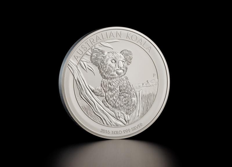 2012 1 kg Australian Koala Sølvmønt