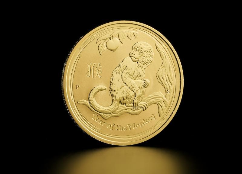 2016 Australian Gold Lunar Year of the Monkey 1/2 oz