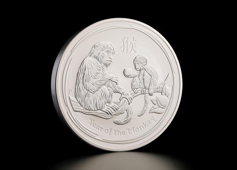 2016 1 oz Australsk Sølv Lunar Abens År