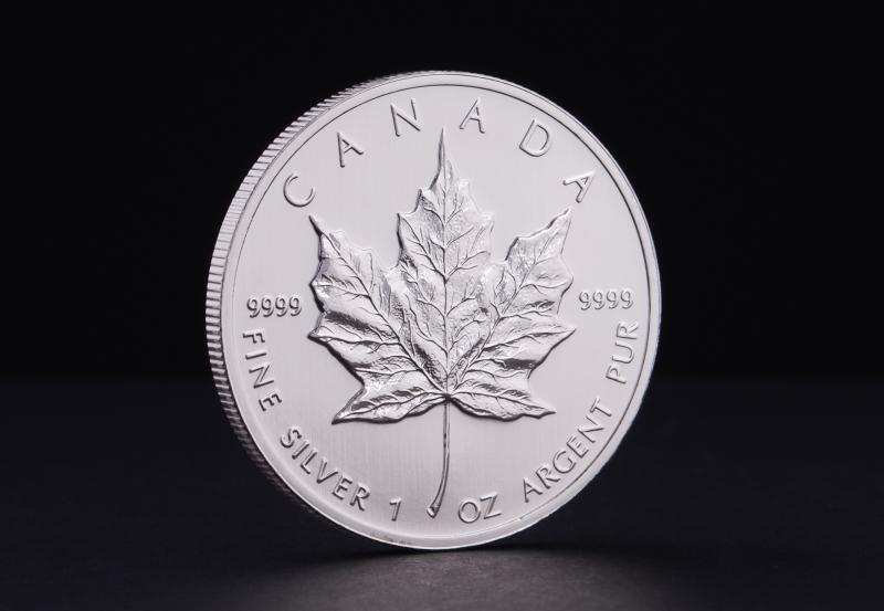 1 oz Canadian Silver Maple Leaf (brugtmoms)