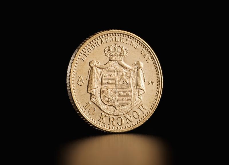 Swedish 10 kroner – Oscar II