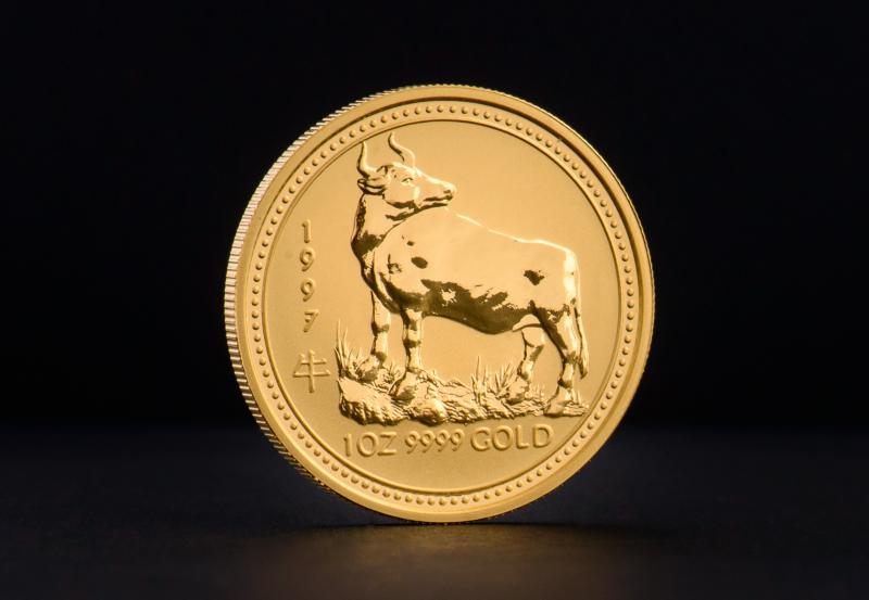 1997 1 oz Australian Gold Lunar Year of the Ox 1 oz