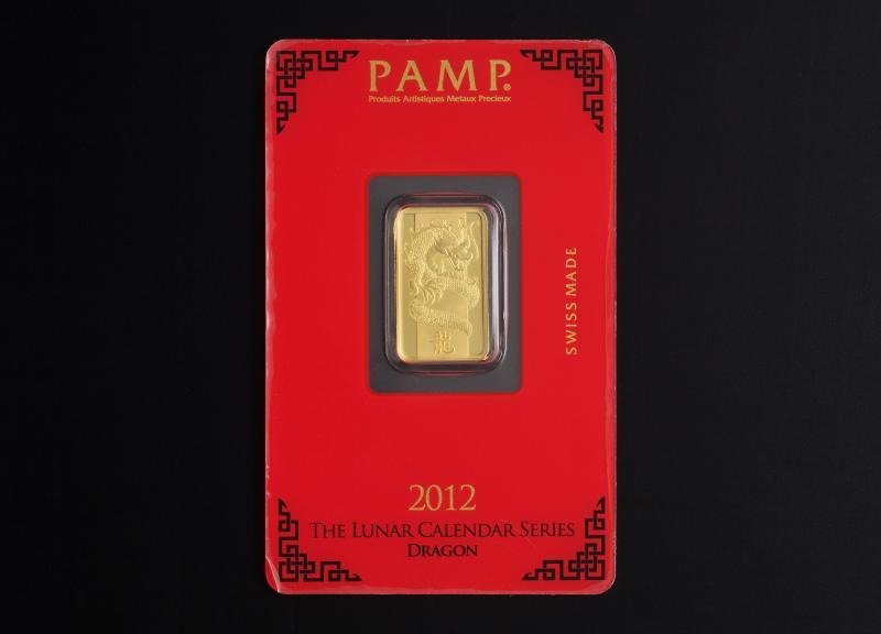 5 g 2012 PAMP Lunar Guldbarre