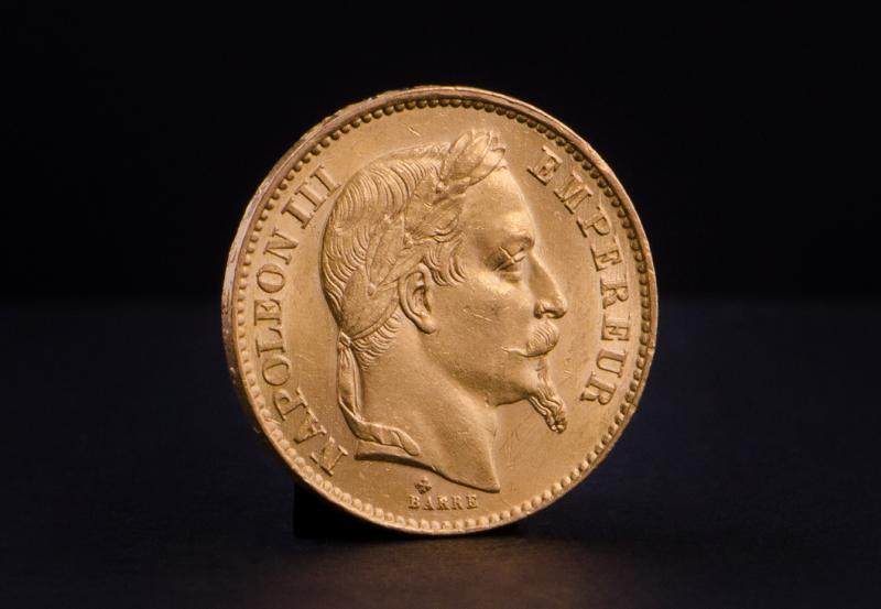 Fransk 20 Francs – Napoleon III Guldmønt