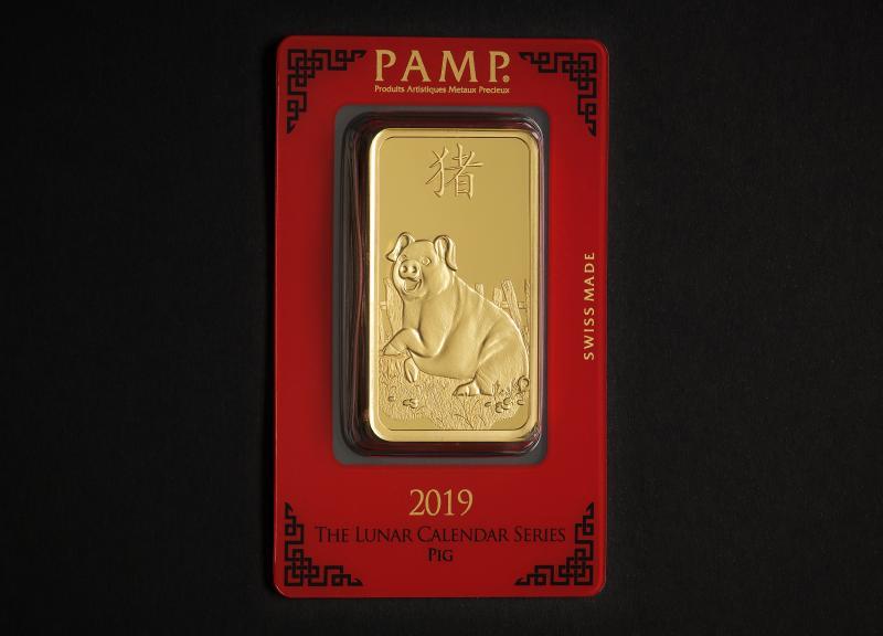 100 g PAMP Lunar investeringsguldbarre 2019