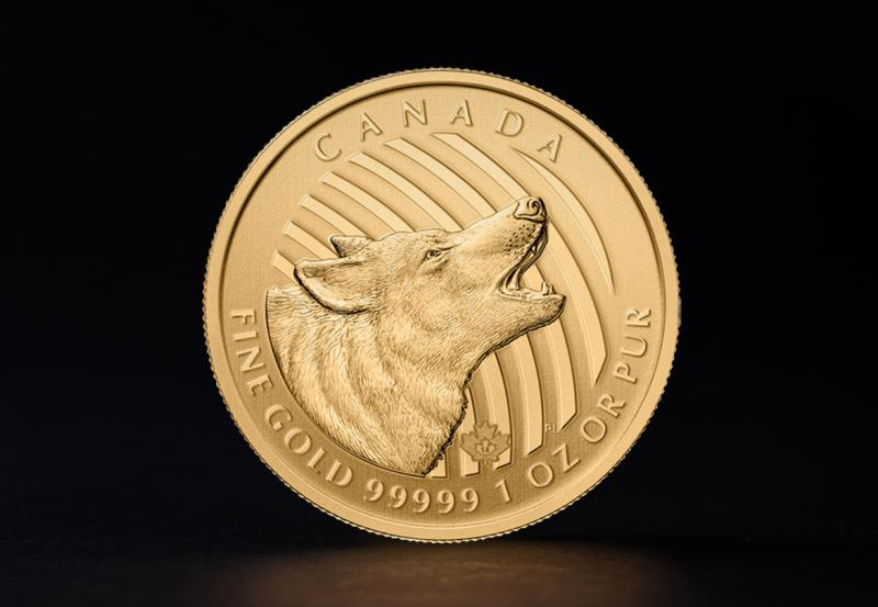 2014 1 oz Canadian Howling Wolf