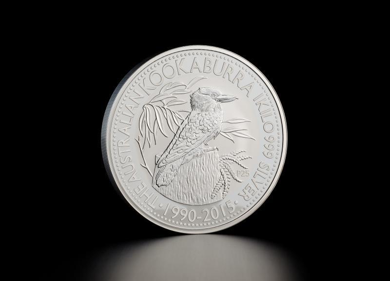 Sølvmynt Australsk Kookaburra 2015 1 kg