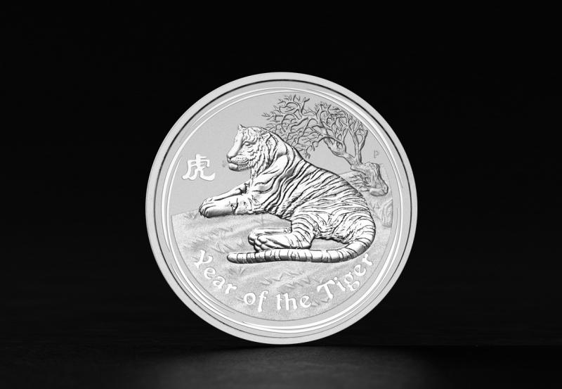 Sølvmynt Australsk Lunar 2010 1 oz