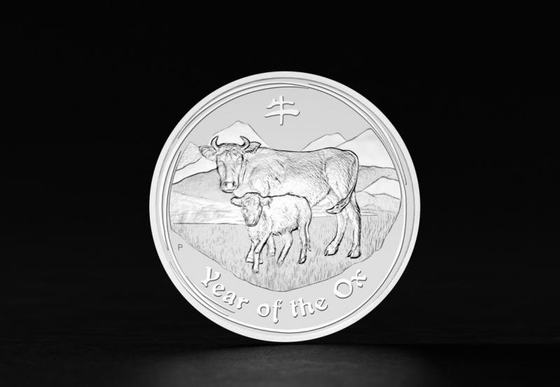 Sølvmynt Australsk Lunar 2009 1 kg