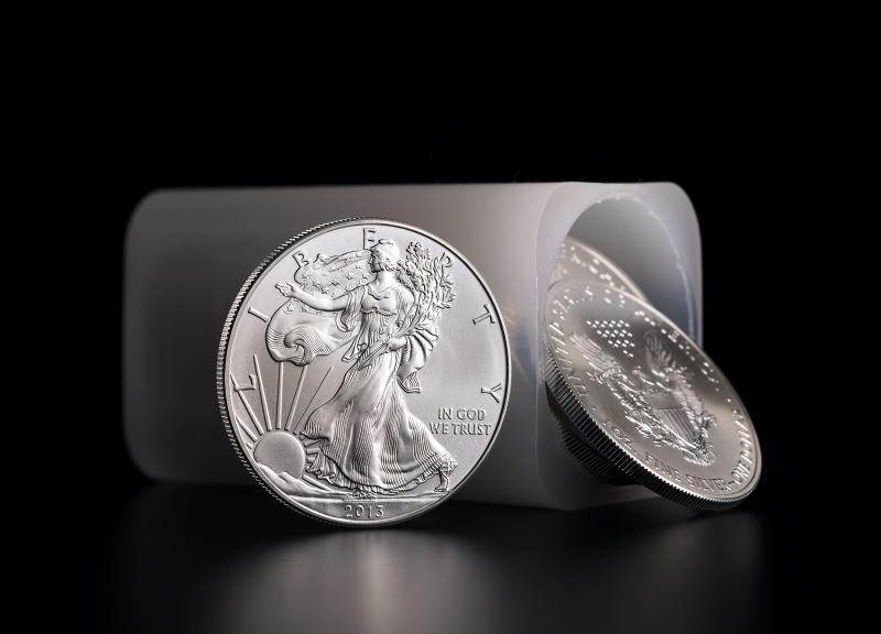 Silver Coin American Eagle in a tube of 20 coins