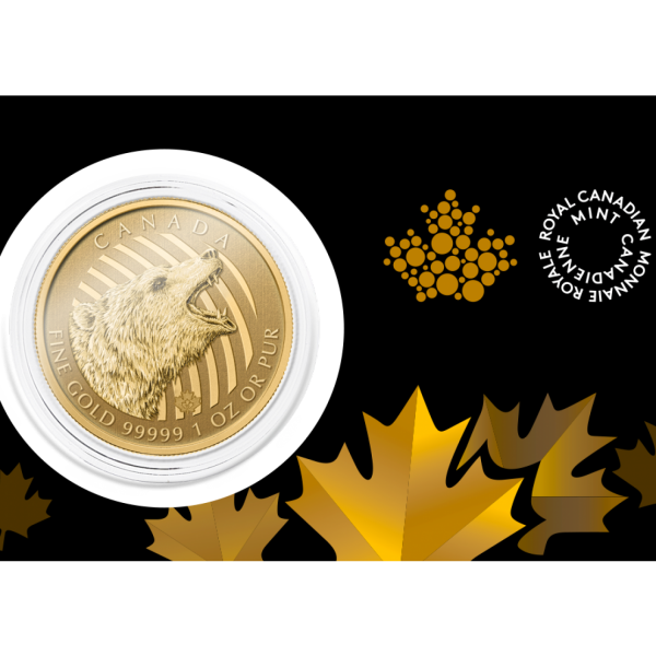 Canadian Roaring Grizzly 999.99 1 oz