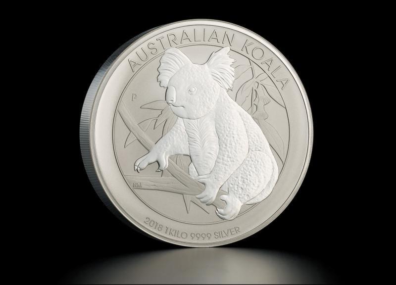 Sølvmynt Australsk Koala 2018 1 kg