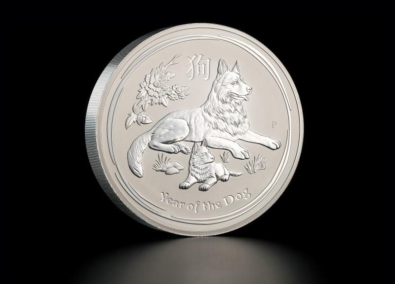 Sølvmynt Australsk Lunar 2018 1 kg