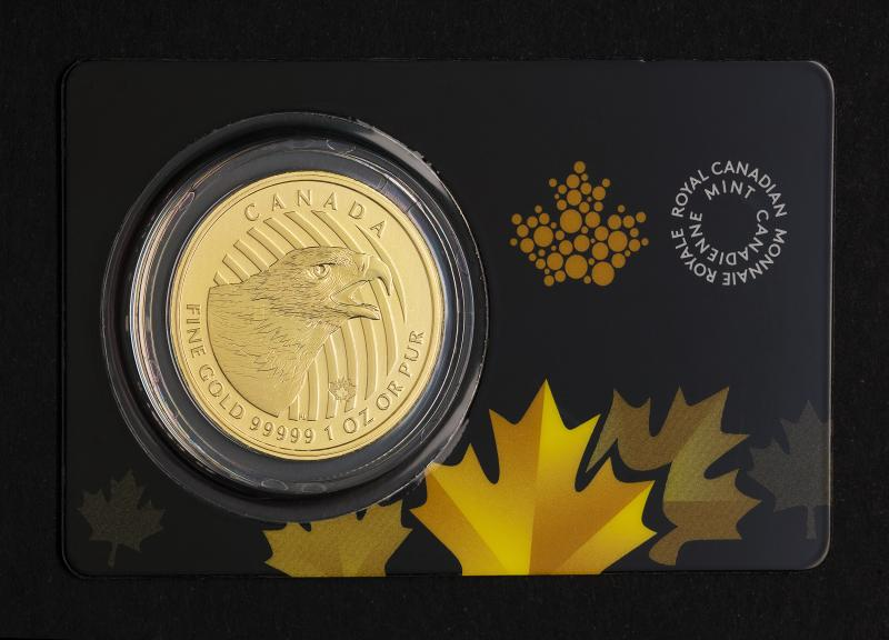 "1 oz Kanadisk ""Golden Eagle"" gullmynt 99.999 fra 2018"