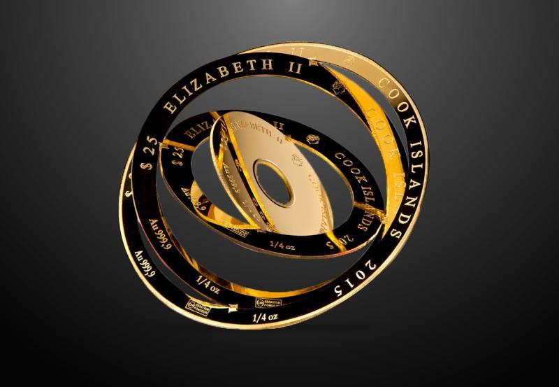 1 oz Valcambi Armillary Gold Coin