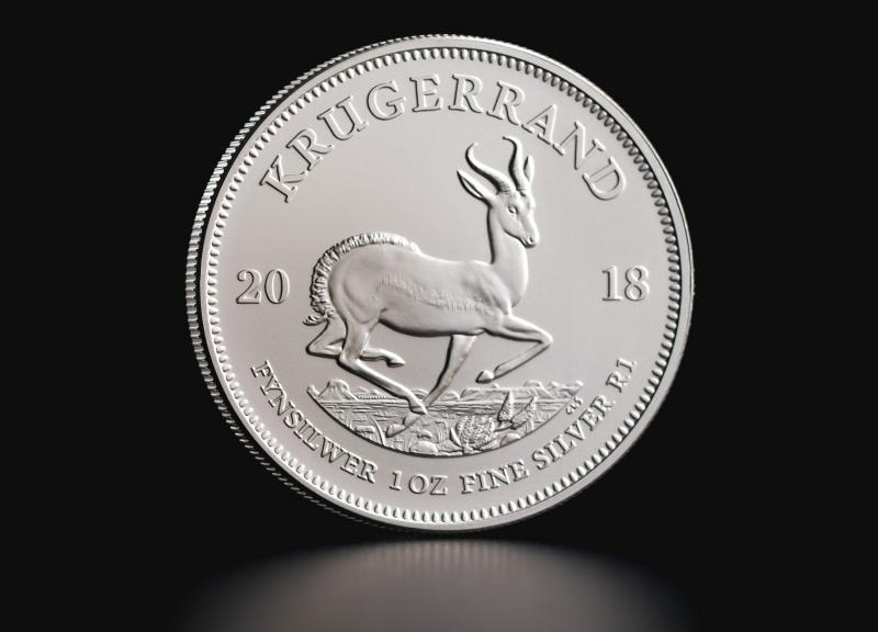 Silver coin South African Krugerrand 1 oz