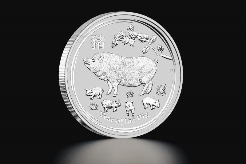Sølvmynt Australsk Lunar 2019 – Gris 1 kg