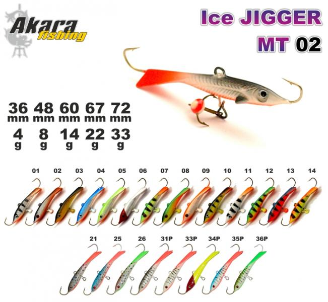 Talilant «Ice Jigger MT» 02 60mm 14g 12
