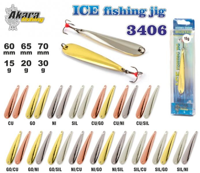 Talilant «Ice Jig» 3406 (vert., 70 mm, 30g, colour: Ni, pack. 1 item)