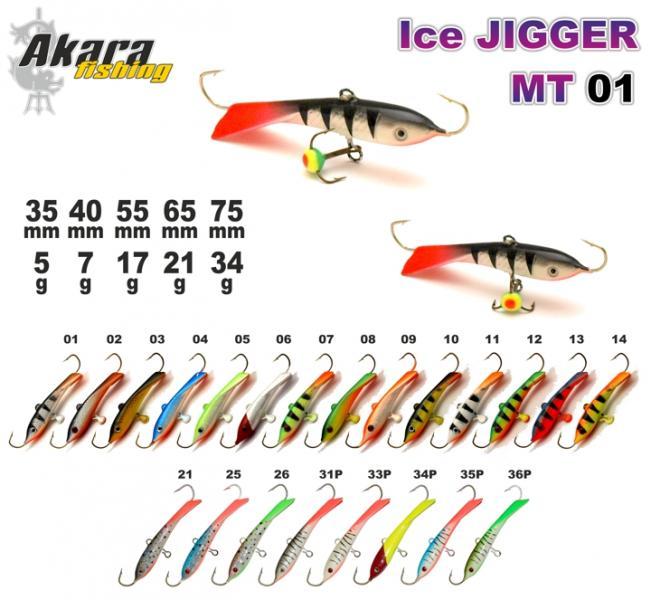 Talilant Ice Jigger 65mm 21g värv: 01