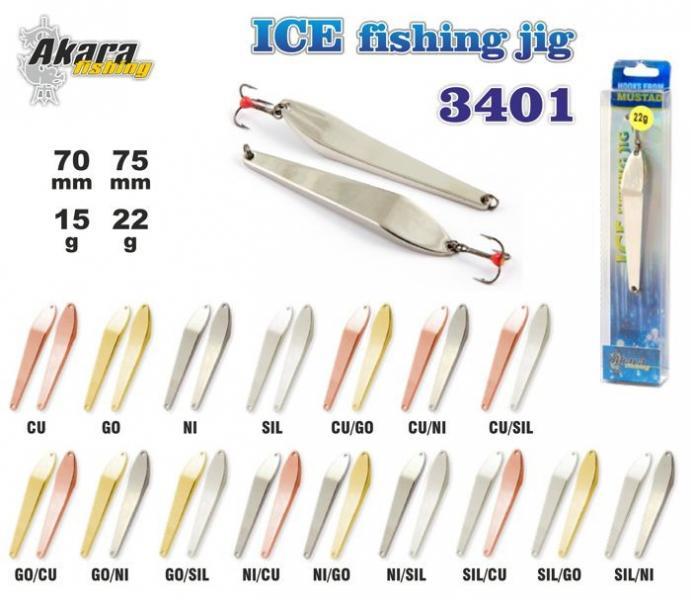 Talilant Ice Jig 3401 70mm 15g värv: Ni/Go
