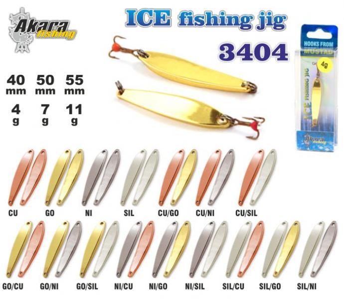 Talilant Ice Jig 3404 50mm 7g värv: Ni/Go