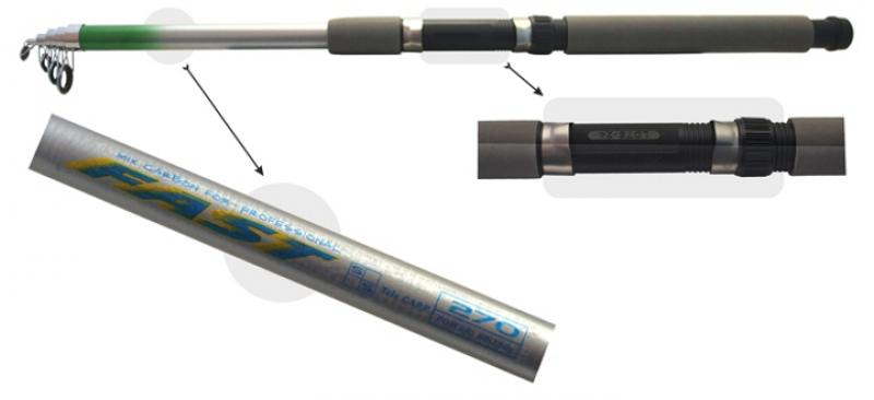 Fast Tele Carp 2.1m 60-180g teleskoop 170g