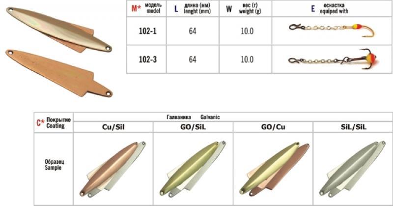 Talilant «Wing» 102 64mm 10g CU/SIL