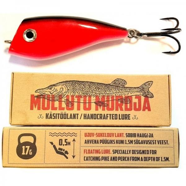 Mullutu Murdja MM08 Punane-Must 17g 75mm