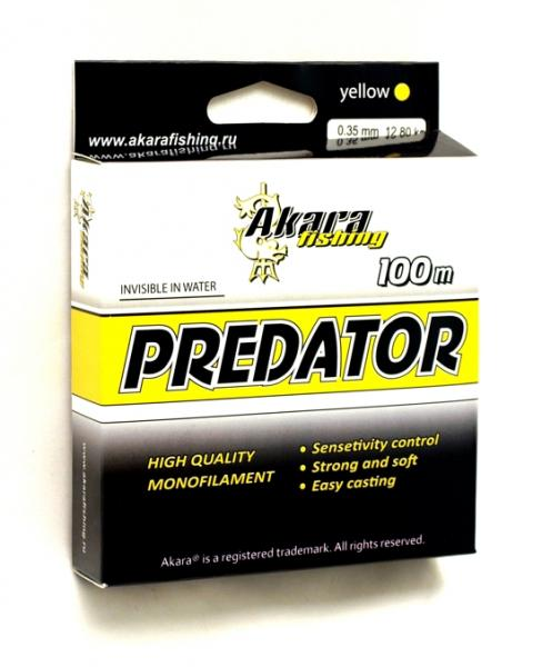 Tamiil Akara Predator 100 100m 0.25mm 7.6kg kollane