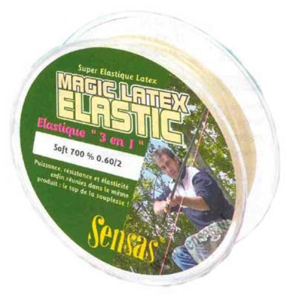 Sensas Magic Latex Elastic Soft 700% 0.9mm 7m (stekkerkumm)