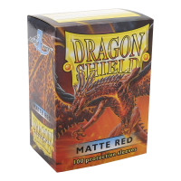 Dragon Shield Standard Sleeves - Matte Red (100)