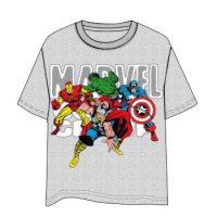 Marvel Group Gray T-Shirt - Size L
