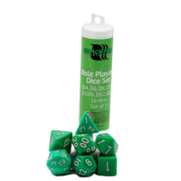 Blackfire Dice - 16mm Role Playing Dice Set - Green (7 Dice)