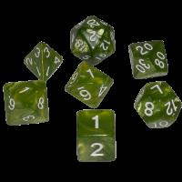Blackfire Dice - 16mm Role Playing Dice Set - Emerald Green (7 Dice)