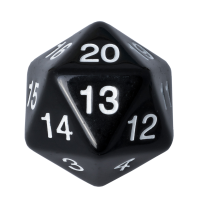 Blackfire Dice - D20 Countdown Die 55 mm - Black
