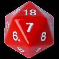 Blackfire Dice - D20 Countdown Die 55 mm - Red