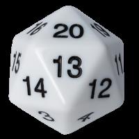 Blackfire Dice - D20 Countdown Die 55 mm - White