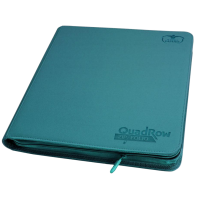 Ultimate Guard 12-Pocket QuadRow ZipFolio XenoSkin Petrol Blue