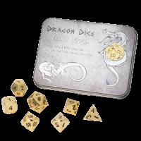 Blackfire Dice - Metal Dice Set - Gold (7 Dice)