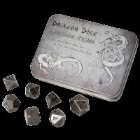 Blackfire Dice - Metal Dice Set - Antique Silver (7 Dice)