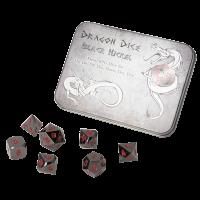 Blackfire Dice - Metal Dice Set - Black (7 Dice)