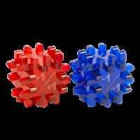 Blackfire Constructible Modificator-Dice - Blue & Red (2 Pack)