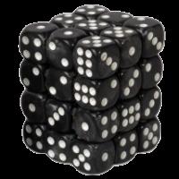 "Blackfire Dice Cube ā€"" 12mm D6 36 Dice Set ā€"" Marbled Black"