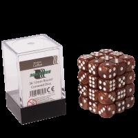 "Blackfire Dice Cube ā€"" 12mm D6 36 Dice Set ā€"" Marbled Coffee"