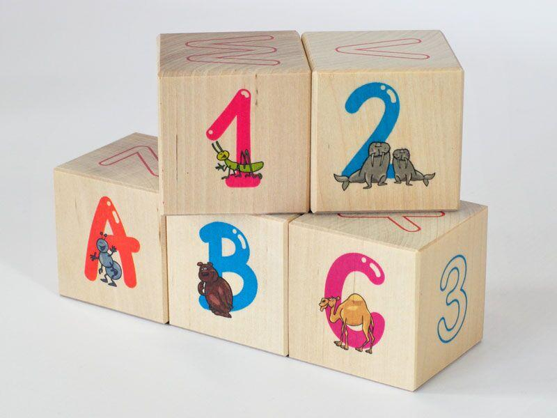 Letter and number blocks